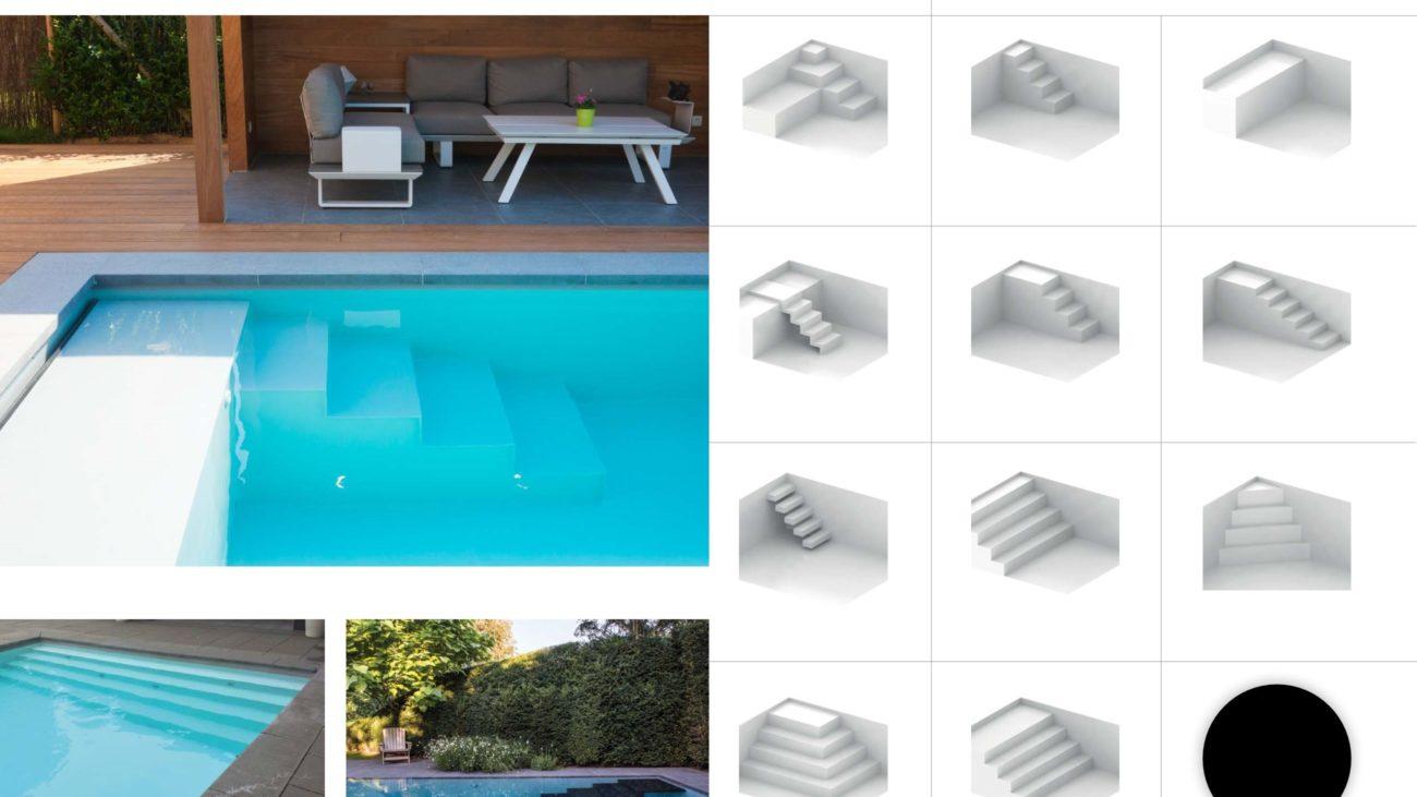 trappen exclusief zwembad zwemvijver