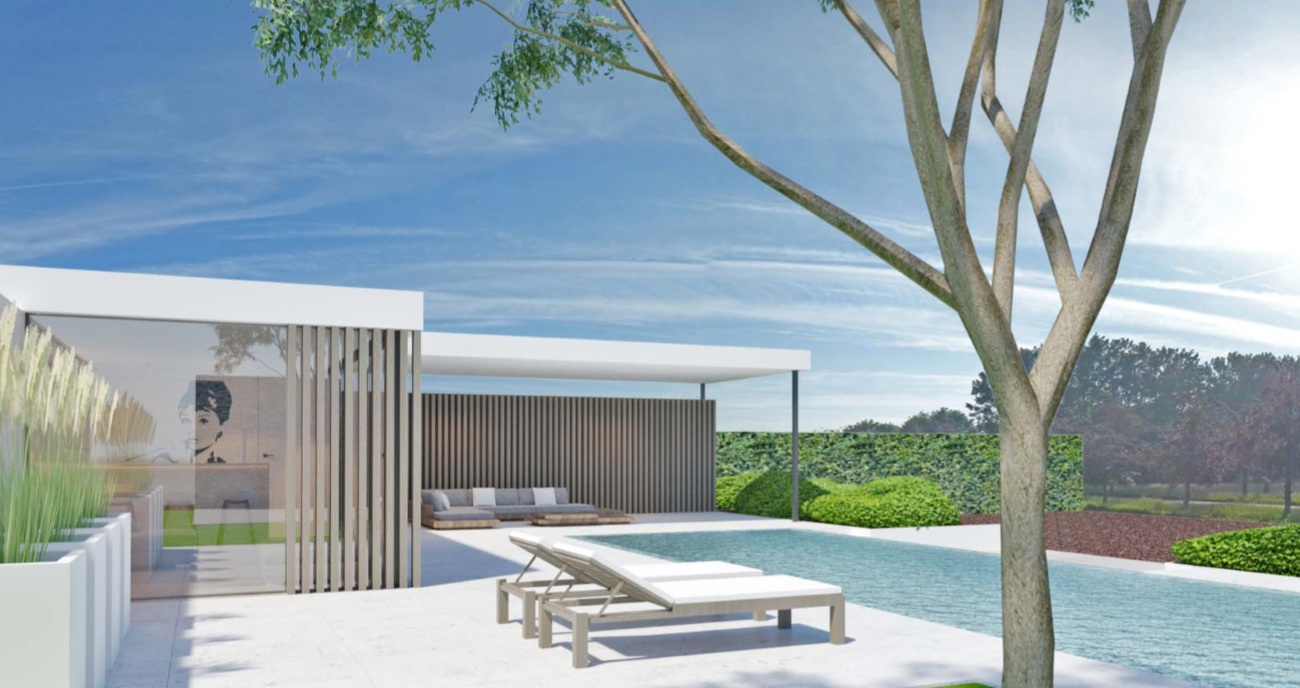 3D foto van project tuin zwembad