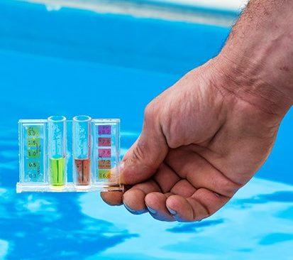 zwembad water helder pH